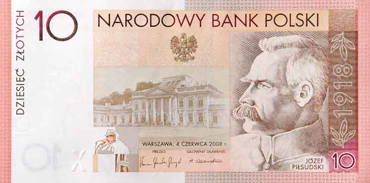 Banknot o nominale 10 zł