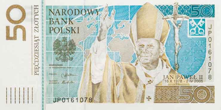 Banknot o nominale 50 zł